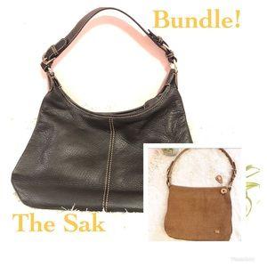 The Sak Bundle of 2 Purses / Crotched & Leather!